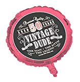 Creative Converting Vintage Dude 50th Birthday 2-Sided Round Mylar Balloon (041567)