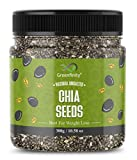 GreenFinity: Chia Seeds 300g - Premium Raw Chia Seeds for Eating, Healthy Snack [Jar Pack].