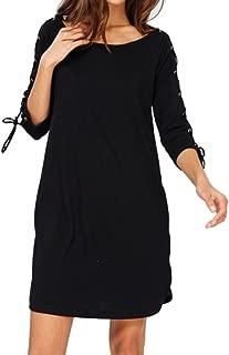 Wishlist Womens Long Sleeve Lace Up Sleeve Dress