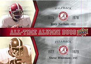 Best 2012 Upper Deck Alabama All Time Alumni Duos #ATADNW Tony Nathan Steve Whitman - Football Card Review