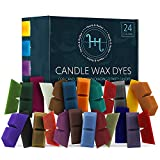 Hearth & Harbor Candle Dyes for Candle Making, Candle Color Dye for Soy Wax, 24 Candle Wax Dye Blocks, Nontoxic Candle Making Supplies for DIY Candles