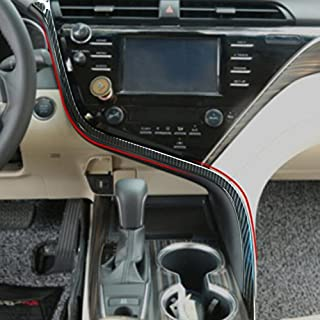 RQING for Toyota Camry 2018 2019 Interior Front Center Console Dashboard Moulding Trim (Carbon Fiber Pattern)