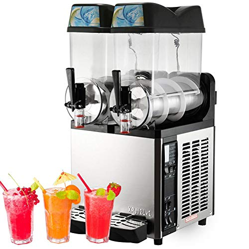 VBENLEM 110V Slushy Machine 24L Margarita Frozen Drink Maker for Commercial and Home Use, Sliver