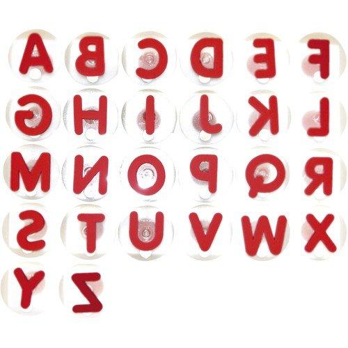 EDUPLAY 220-004 Riesenstempel Großbuchstaben, rot, 26-teilig (1 Set)