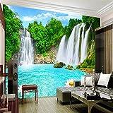 Papel Pintado Pared 3D Fotomurales Paisaje De Cascada Murales 3D Papel Tapiz Decorativos Wallpaper,400cmX280cm