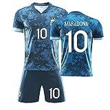 Camiseta De Visitante 2020 Mǎrǎdǒnǎ Camiseta De Fútbol De Argentina Traje De Entrenamiento De La Selección Nacional Camisetas Conmemorativas De Los Aficionados,M