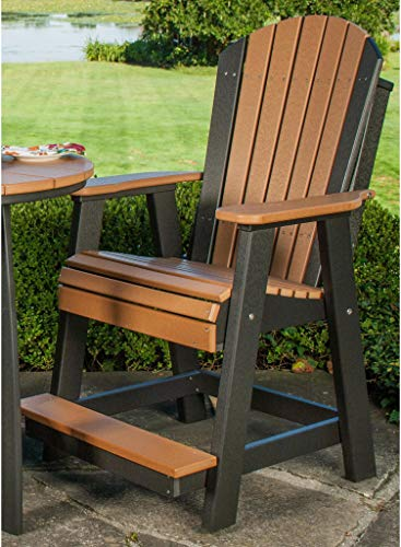 LuxCraft Counter Height Recycled Plastic Adirondack Balcony Chair - Lead Time to Ship 4 Weeks