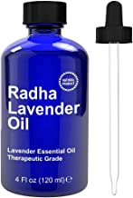 Radha Beauty Lavender Essential Oil 4 oz. - Natural & Therapeutic Grade, Steam Distilled for Aromatherapy, Relaxation, Sle...