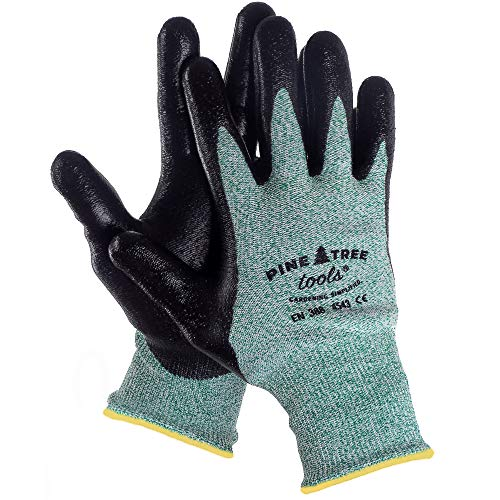 Ultra Strong Mens Yard Work Gloves - For Outdoor Working, Mechanic and Gardening - with Advanced Firm Grip, Anti Slip Tech - Durable, Cool and Comfortable - Men's Safety Gloves. (Large)
