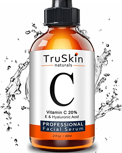 TruSkin Naturals Vitamin C Serum for Face [BIG 2-OZ Bottle] Topical Facial Serum with Hyaluronic Acid & Vitamin E, 2 fl oz.