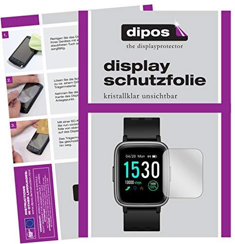 dipos I Schutzfolie kompatibel mit Pearl Newgen medicals SW-260.hr Bildschirmschutz-Folie klar (Kleiner als das Glas, da Dieses gewölbt ist)