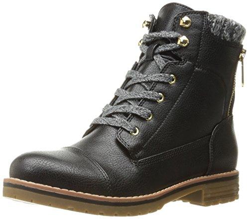 Tommy Hilfiger Women's Omar2 Combat Boot, Black, 7.5