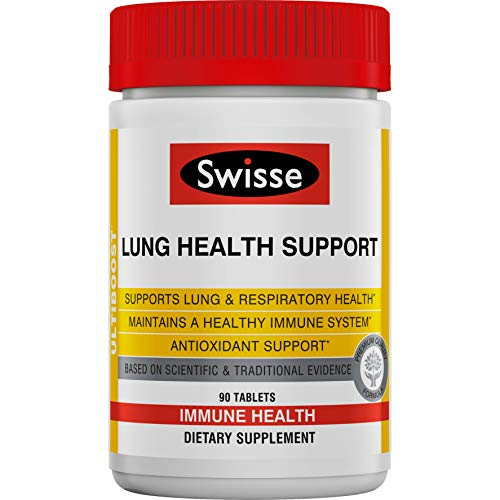 Swisse Ultiboost Lung Health Support Supplement | Bronchial Wellness, Immune & Lung Health, Respiratory Support, Antioxidant Rich | 90 Tablets