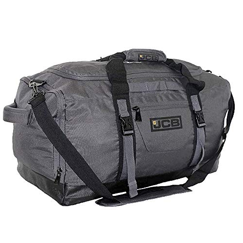 Large Sports Gym Bag Weekend Overnight Travel Luggage Holdall - JCB4L (Grey)