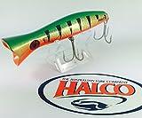 Irresistible Topwater Pesca por Halco 'Roosta popper 160, color R26Golden Verde