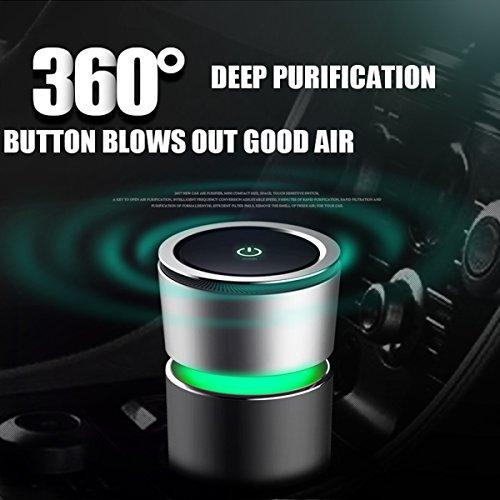 Auto-luchtreiniger, USB-luchtreiniger, luchtverfrisser, HEPA-filter met ionisator, verwijdert stof, pollen, schadelijke stoffen en geurstoffen, voor auto, kantoor, slaapkamer Auto luchtverfrisser