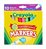 Crayola Markers, Broad Line, 10Ct, Bright and Bold - Pack of 2
