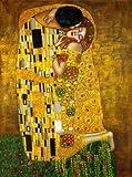 XTmBC Gustav Klimt Kiss Pinturas de Lienzo Famosas Reproducciones en la Pared Retrato clásico Cartel de la Pared para la Sala Cuadros Decoración-Sin marco50x75cm