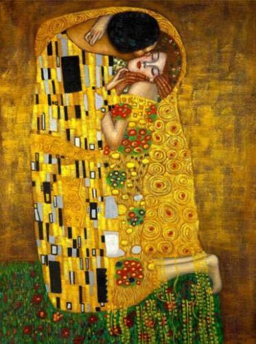 Frameloos Gustav Klimt Kus Beroemde Canvas Schilderijen Reproducties Aan De Muur Klassiek Portret Muurposter Voor Woonkamer Cuadros Decor <> 50x75cm