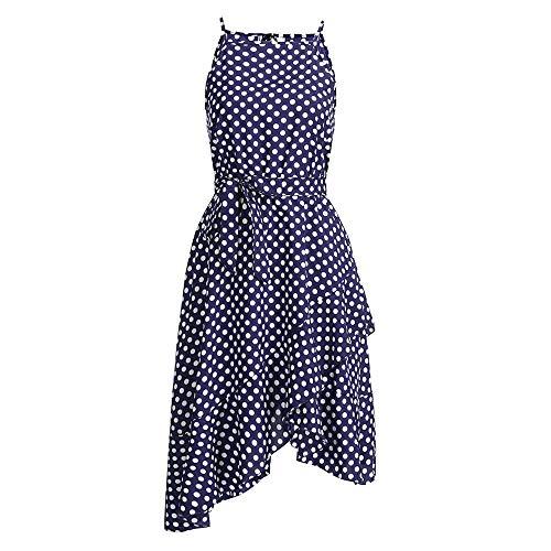JIUZHOU Frauen Boho Lange Abendgesellschaft Cocktailkleid Strandkleid Sommerkleid Jahrgang Freizeitkleider