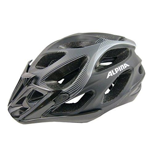 Fahrradhelm Alpina Mythos L.E. black white lines, white-silver-lines, Größe:52-57, Farbe:black-white lines