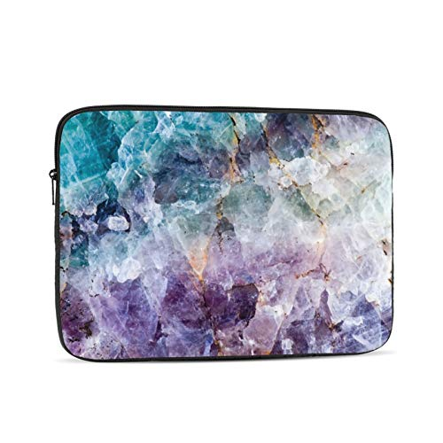 Turquoise Purple Quartz Crystal 13 Inch Laptop Sleeve Bag Compatible with 13.3' Old MacBook Air (A1466 A1369) Notebook Computer Protective Case Cover
