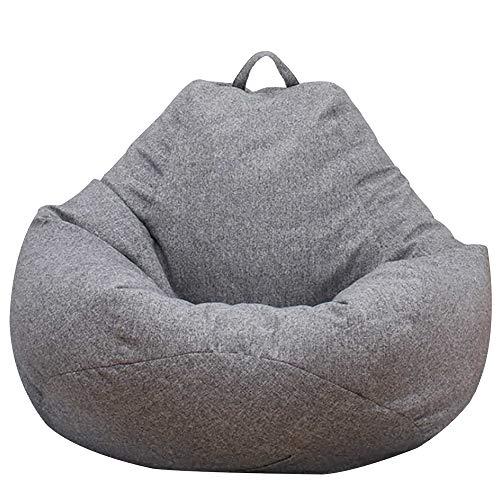 Dandelionsky Klassischer Sitzsackbezug, Bezug für Sitzsack, Faulenz-Liege, für Erwachsene und Kinder,  ohne Füllung, baumwolle, grau, 100x120cm