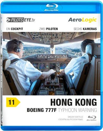 "PilotsEYE.tv | HONGKONG | Cockpitmitflug B777-F | AeroLogic | ""Typhoon warning"" | Bonus: Best of KaiTak approaches [Blu-ray]"
