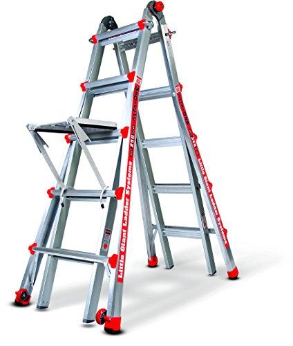 Little Giant Alta One 22 Foot Ladder with Work Platform (250-lb....