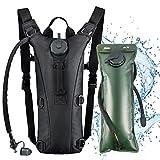 Hydration Backpack Pack Water Bladder - with 3L BPA Free Bladder Lightweight Climbing Biking Cycling Skiing Hiking Running Bags for Woman Man Kids (Black)