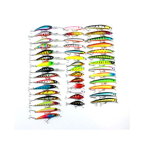 43pcs Set de señuelo de pesca variados Isca artificial Kit de pesca Minnow pesca Wobbler 43 colores Crankbait duro pesca Tackle