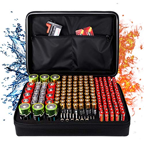 Best Deals! Fireproof Battery Organizer Storage Box, Fireproof Waterproof Explosionproof Safe Carryi...