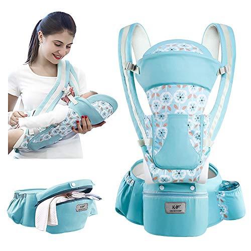 Babytrage für Neugeborene, Hip Seat Toddler 360 Ergonomische Babytrage Kindertrage Rückentrage weicher Babyrucksack Träger-Sicherheitsgurt Bund für Neugeborene,Kleinkinder