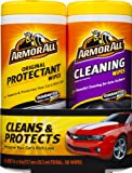 Armor All Car Interior Cleaner Protectant Wipes - Cleaning for Cars & Truck & Motorcycle, 25 Count (Pack of 2), 10848