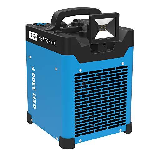 Güde 85138 Elektro-Heizlüfter GEH 3300 F (Thermostat, Heiz- und Ventilatorfunktion, Lautsprecher, 10 W LED Licht)