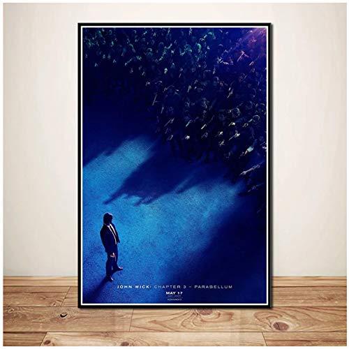 DOAQTE John Wick 3 Parabellum Serie de películas Arte de la Pared Pintura Impresa en Lienzo Decoración de la Pared del hogar Impresiones en Lienzo 50X75cm Sin Marco 1 Uds
