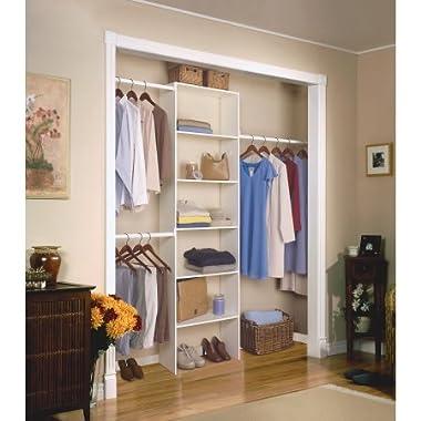 Closetmaid Vertical Closet Organizer, 24 , White