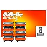 Gillette Fusion 5 Cuchillas de Afeitar Hombre, Paquete de 8 Cuchillas de Recambio (El Diseño Exterior del Paquete Puede Variar)