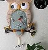 LZLXX Kuckucksuhr Walduhr Retro Pendeluhr Wanddekoration Vintage-Mode Wind Kuckucksuhr, Swing Time Bell Wecker, Hauptdekoration Uhr, Holiday Party Geschenk