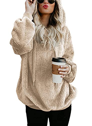 ReachMe Womens Sherpa Pullover Hoodie