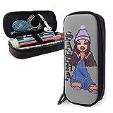 Estuche para lápices de cuero Pu Bratz Sasha, bolsa de almacenamiento, bolsa de maquillaje, escuela secundaria, colegio, estudiante, oficina, niñas, niños, adultos