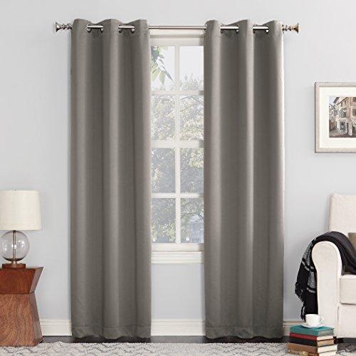 """Sun Zero Easton Grommet Curtain Panel, 40"""" x 108"""", Gray"""