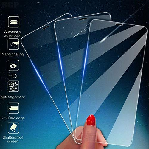 KDLLK Protector de Pantalla de Cobertura Total, para iPhone 11 Pro X XR XSMAX Película de Vidrio Templado