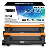 INK E-SALE Compatible Toner Cartridge Replacement for Brother TN660 TN630 use for MFC-L2700DW HL-L2340DW HL-L2300D HL-L2380DW DCP-L2540DW DCP-L2520DW MFC-L2740DW MFC-L2720DW (2 Pack Black, Design V3)