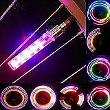 justHIGH Bike Tire Valve Stem Light,LED Waterproof Bicycle Wheel Lights Neon Flashing Lamp Glow in The Dark Cool Safe Accessories