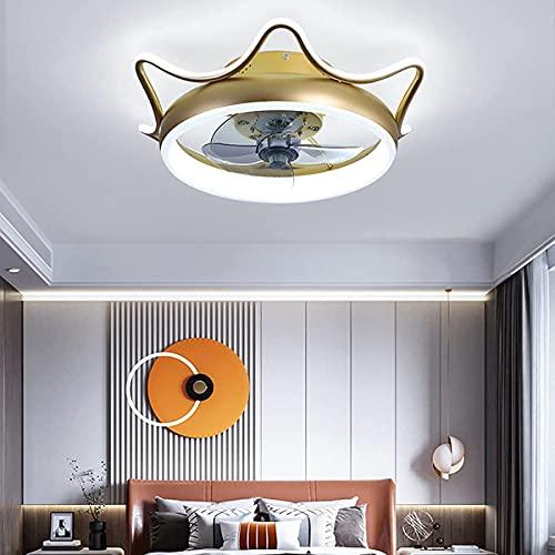 JKYP Ventilador de techo con luces y mando a distancia silencioso, reversible, LED ventilador de techo, dormitorio regulables, para sala de estar, estudio, comedor, B (tamaño A: A)