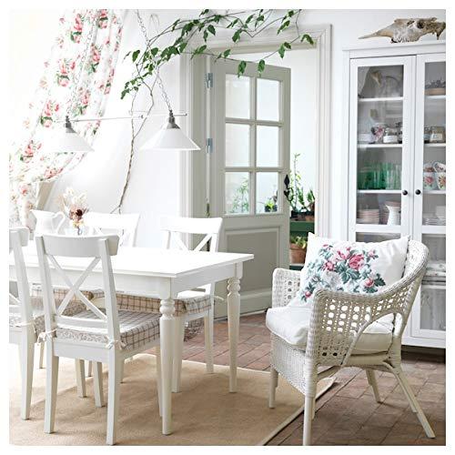 Tok Mark Traders INGOLF - Silla (43 x 52 x 91 cm), color blanco
