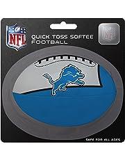 كرة قدم ناعمة بشعار فريق ديترويت ليونز كيدز كويك توس من الدوري الوطني لكرة القدم الأمريكية، باللون الأزرق، مقاس صغير
