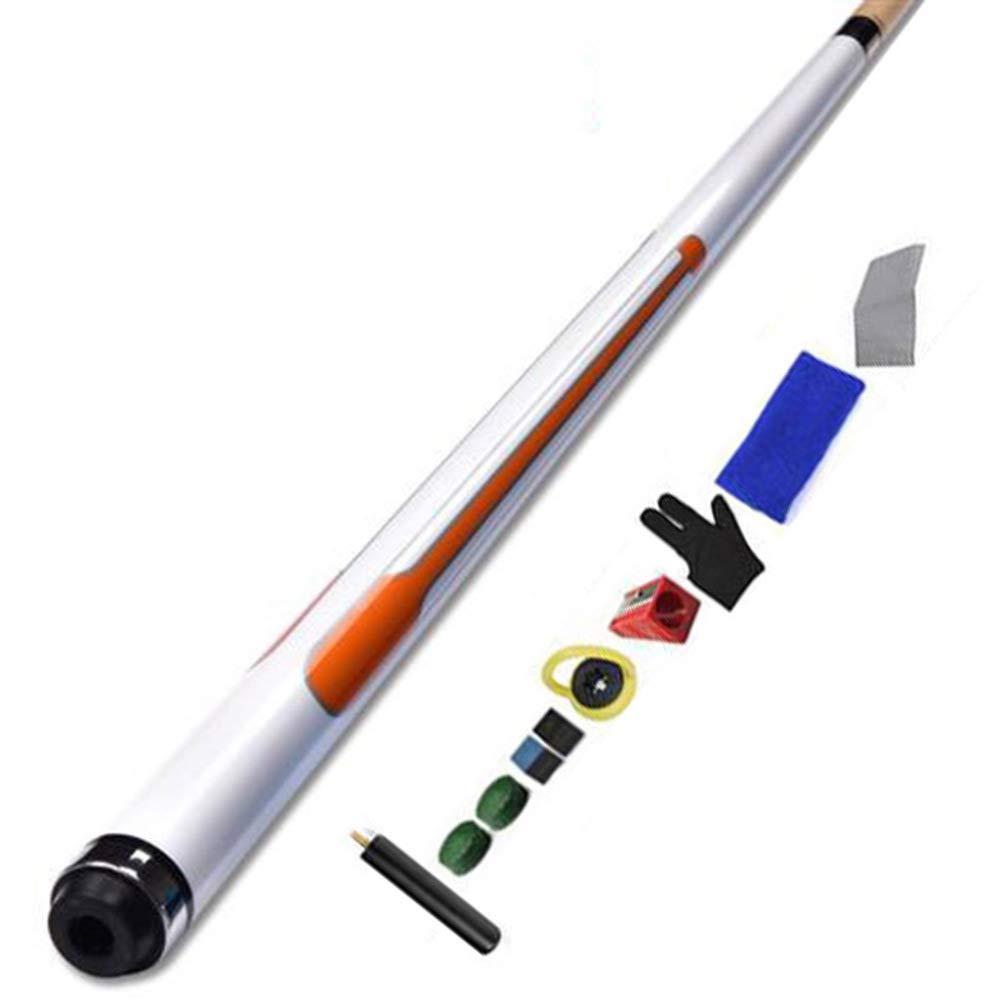 Taco de billar dividido 1/2, hecho a mano Se puede usar para taco de billar americano de 9 bolas, longitud 58 pulgadas, punta del palo 11.75 mm peso 19 oz/B / 147cm: