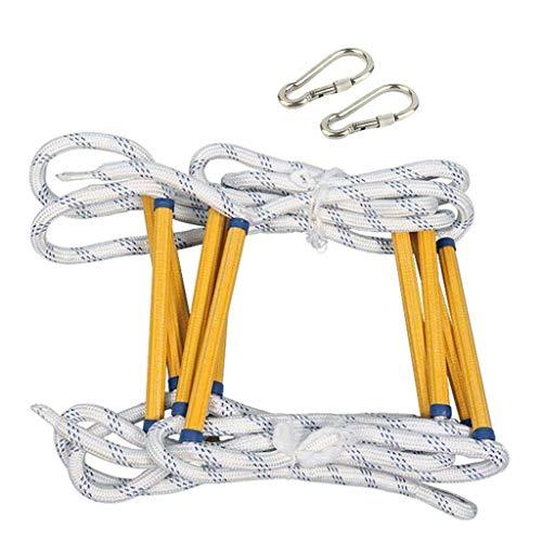 Échelle en corde en polyester antidérapant pour évacuer les urgences, évasion haute, sauvetage incendie, travail aérien – facile à déployer, longueur 40 m (taille 40 m), 20m/66ft